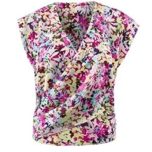 NWT | CAbi | MEDIUM/6 | 5211 EDEN TOP | FLOWER POP